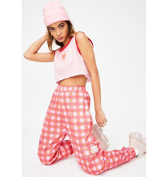 JUNGLECLUB CLOTHING Checkered Cargo Pants