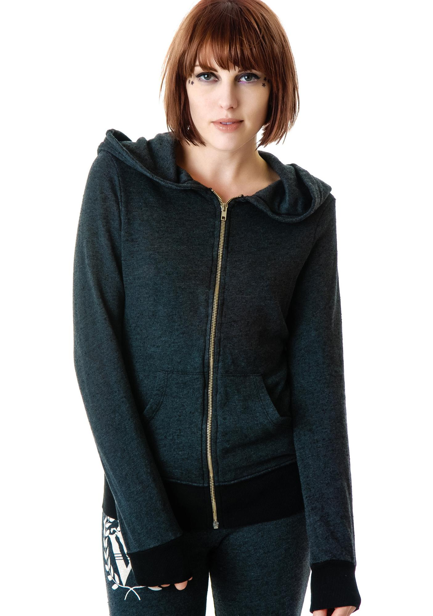 Wildfox Couture Bitch Hood Wildfox Track Jacket