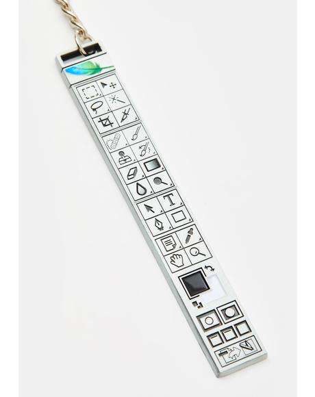 Photoshop Toolbar Key Chain