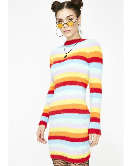 Psychedelic Protest Fuzzy Dress