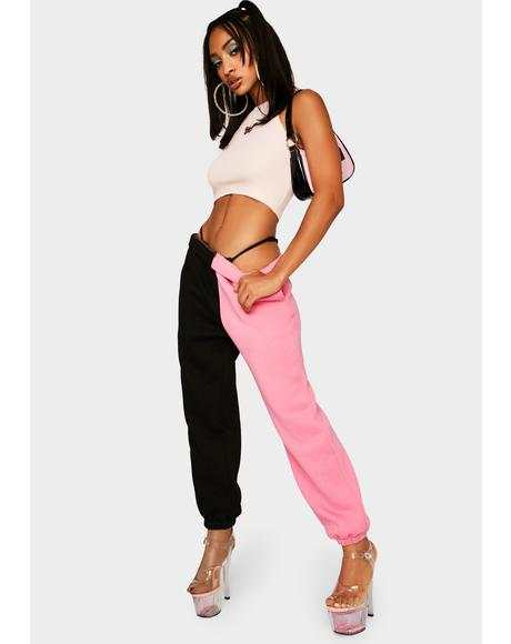 Bubblegum Slacker Squad Two Tone Sweatpants