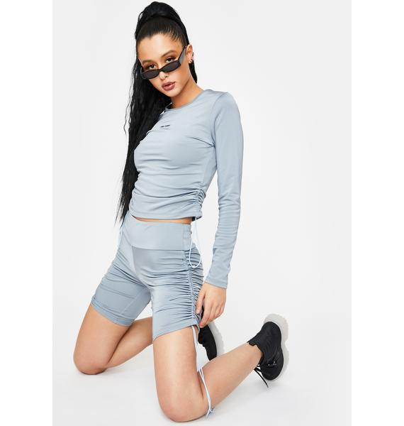 Local Heroes Adjustable Ruched Long Sleeve Top