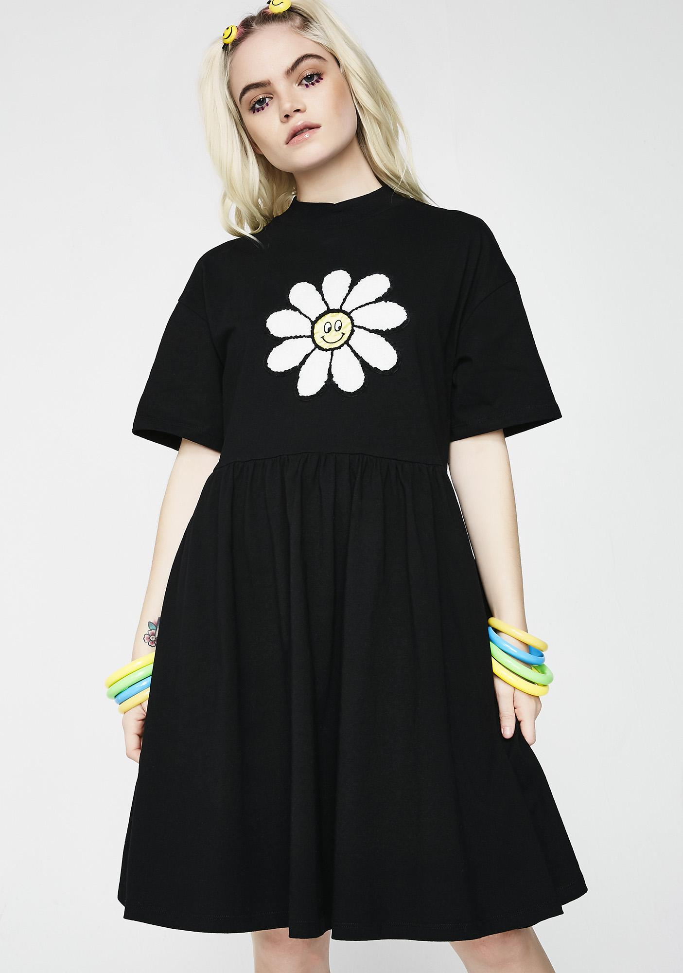 efc73d3f0c Lazy Oaf Dark Giant Daisy Dress