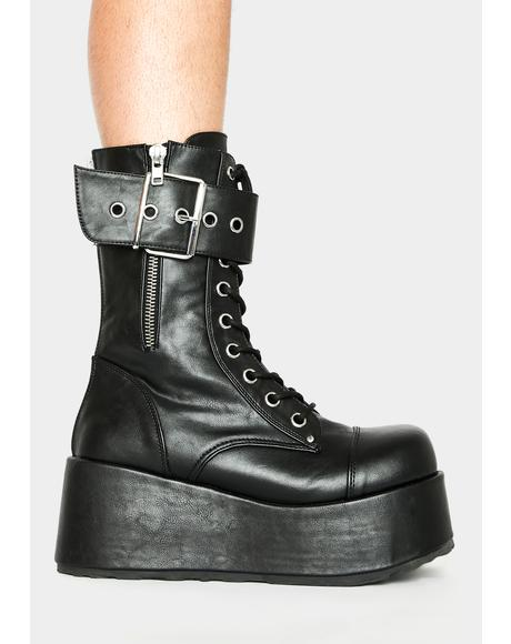 Petrol Ankle Boots