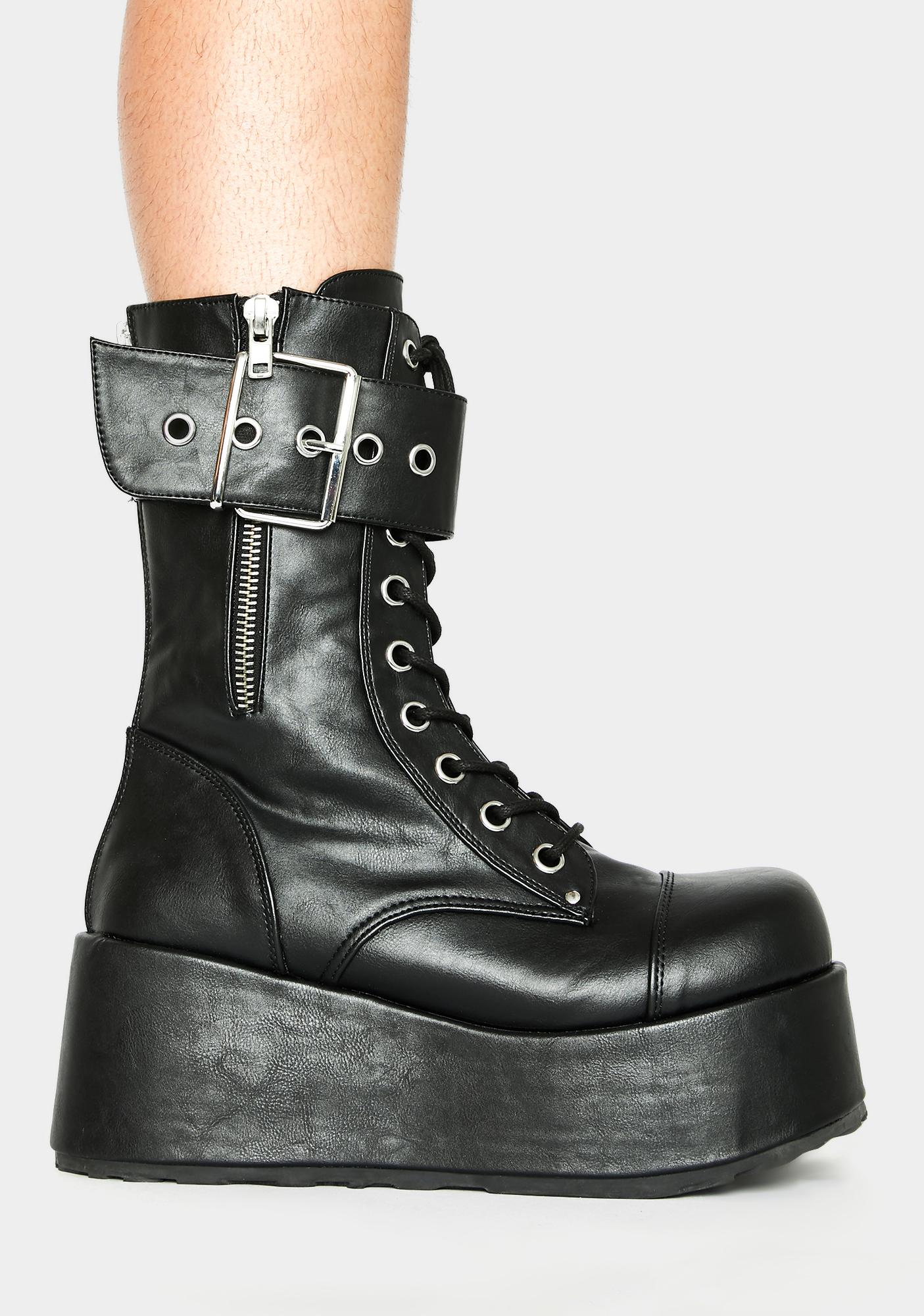 Demonia Petrol Ankle Boots