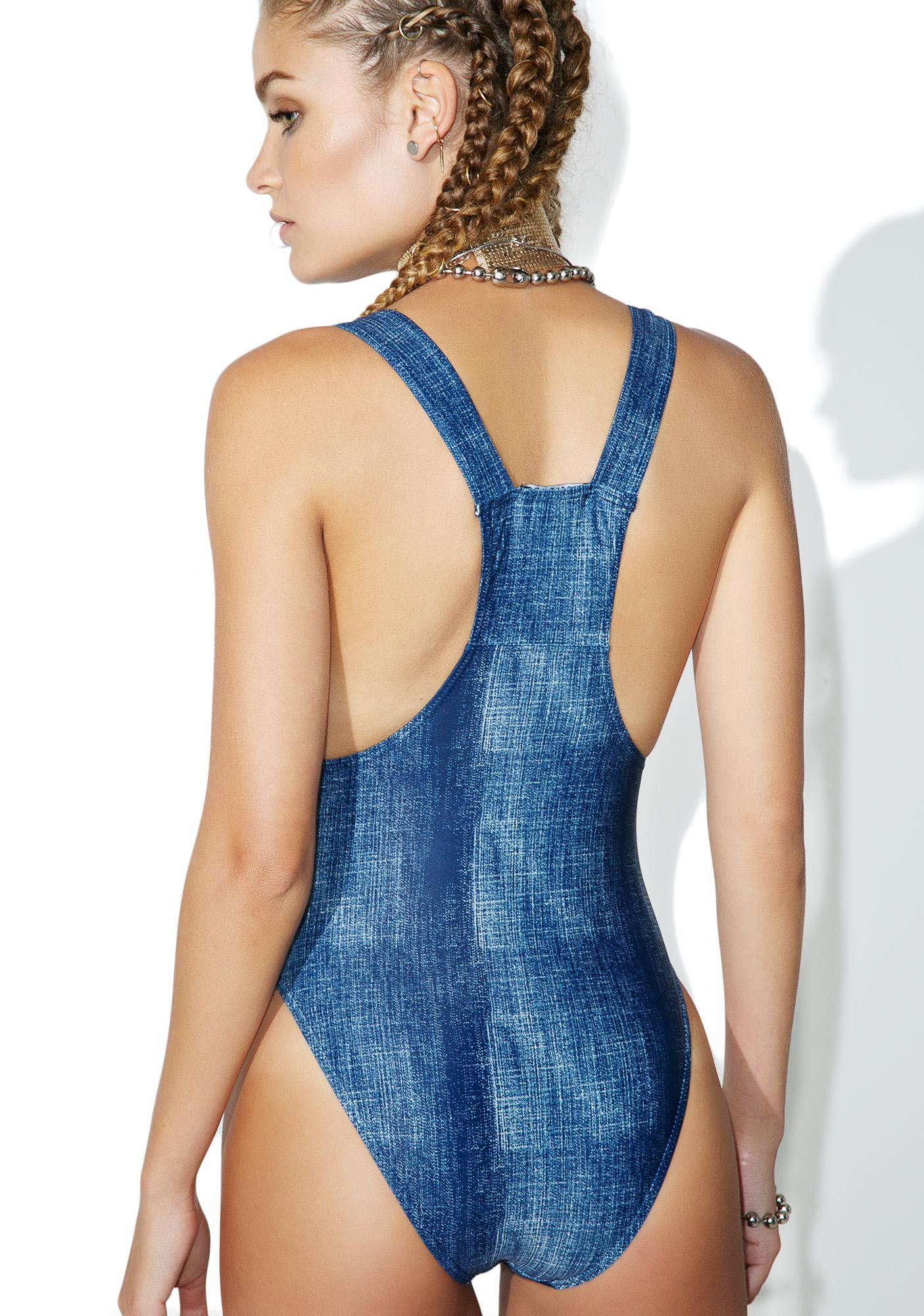 Current Mood Brooke Denim Look One Piece