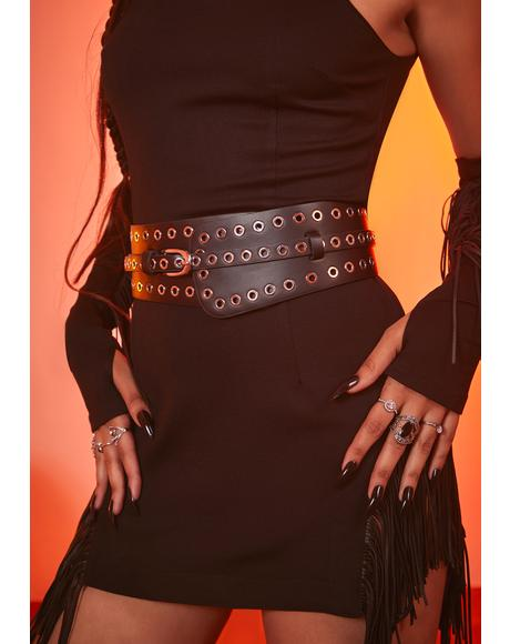 Truth Speaks Eyelet Waist Belt