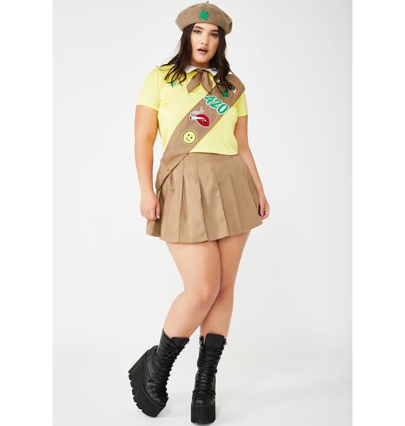 Dolls Kill Miss Pot Brownie Costume Set