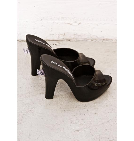 Melissa X Jeremy Scott Slick Inflatable Mules