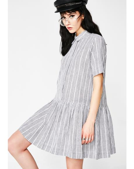 The Prissiest Striped Mini Dress
