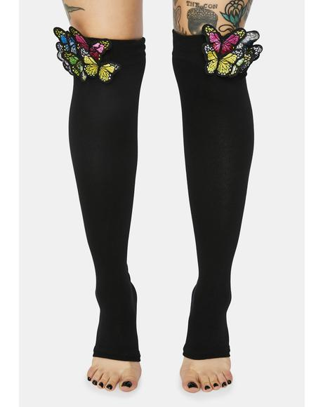 Dancing On Air Butterfly Leg Warmers