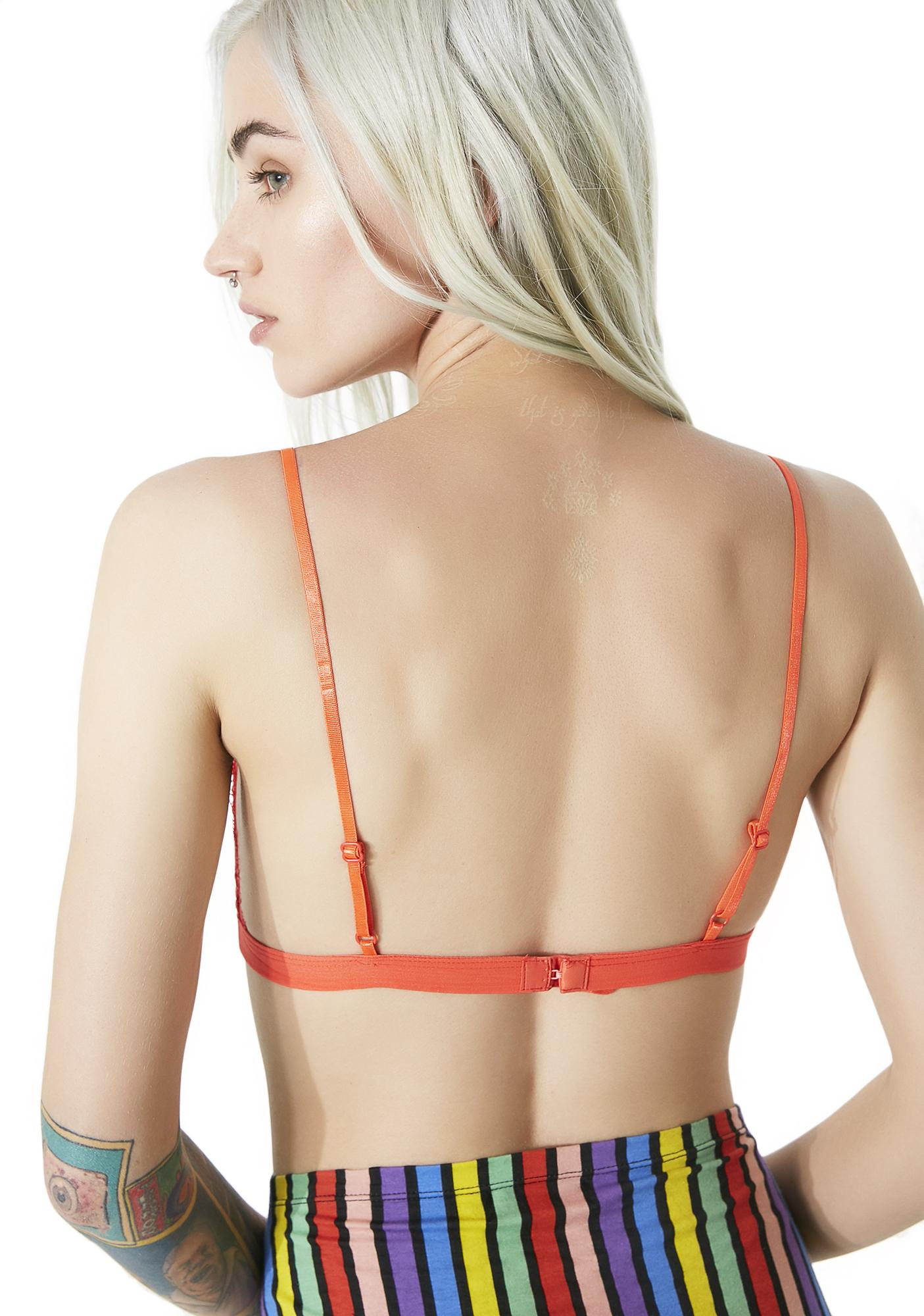 Orange Crush Lace Bralette