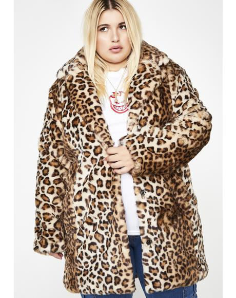 Gonna Hunt You Down Leopard Coat