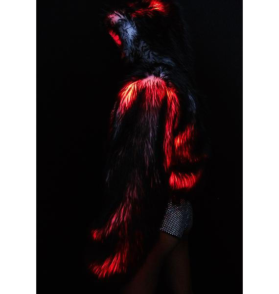 J Valentine Volcanic Light-Up Faux Fur Jacket