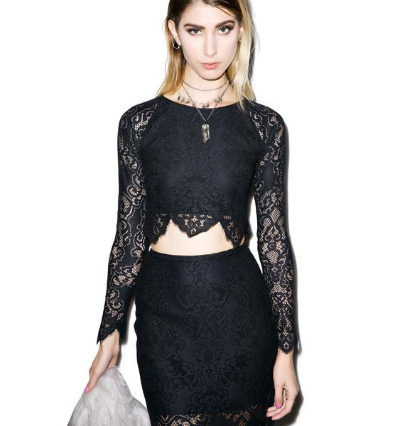 For Love & Lemons Midnight Crop Top