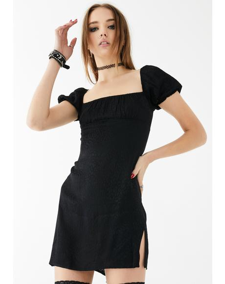 Black Cheetah Lomna Dress