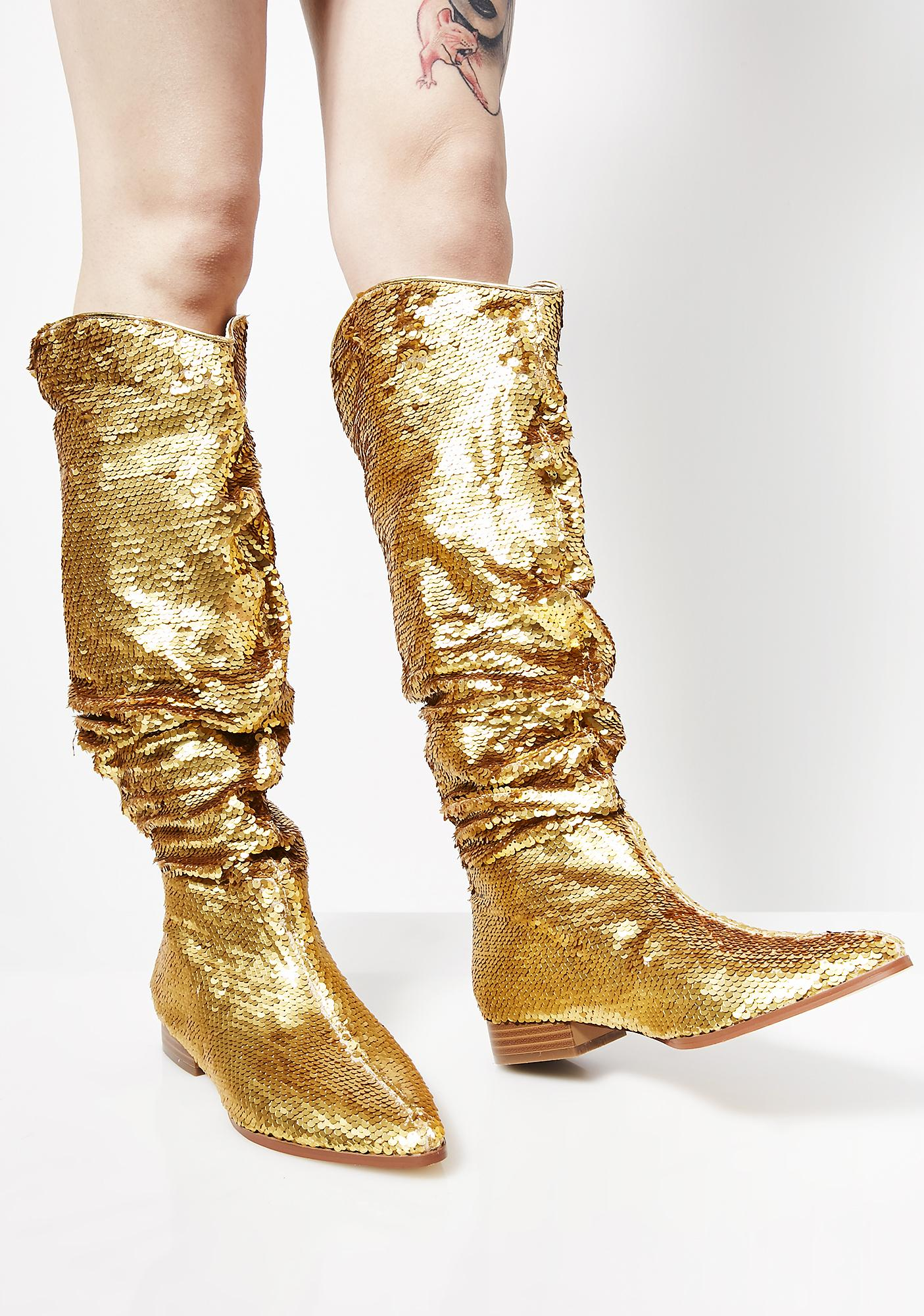 Flash Of Light Slouch Boots