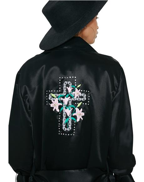 Cross And Lily Satin Jacket