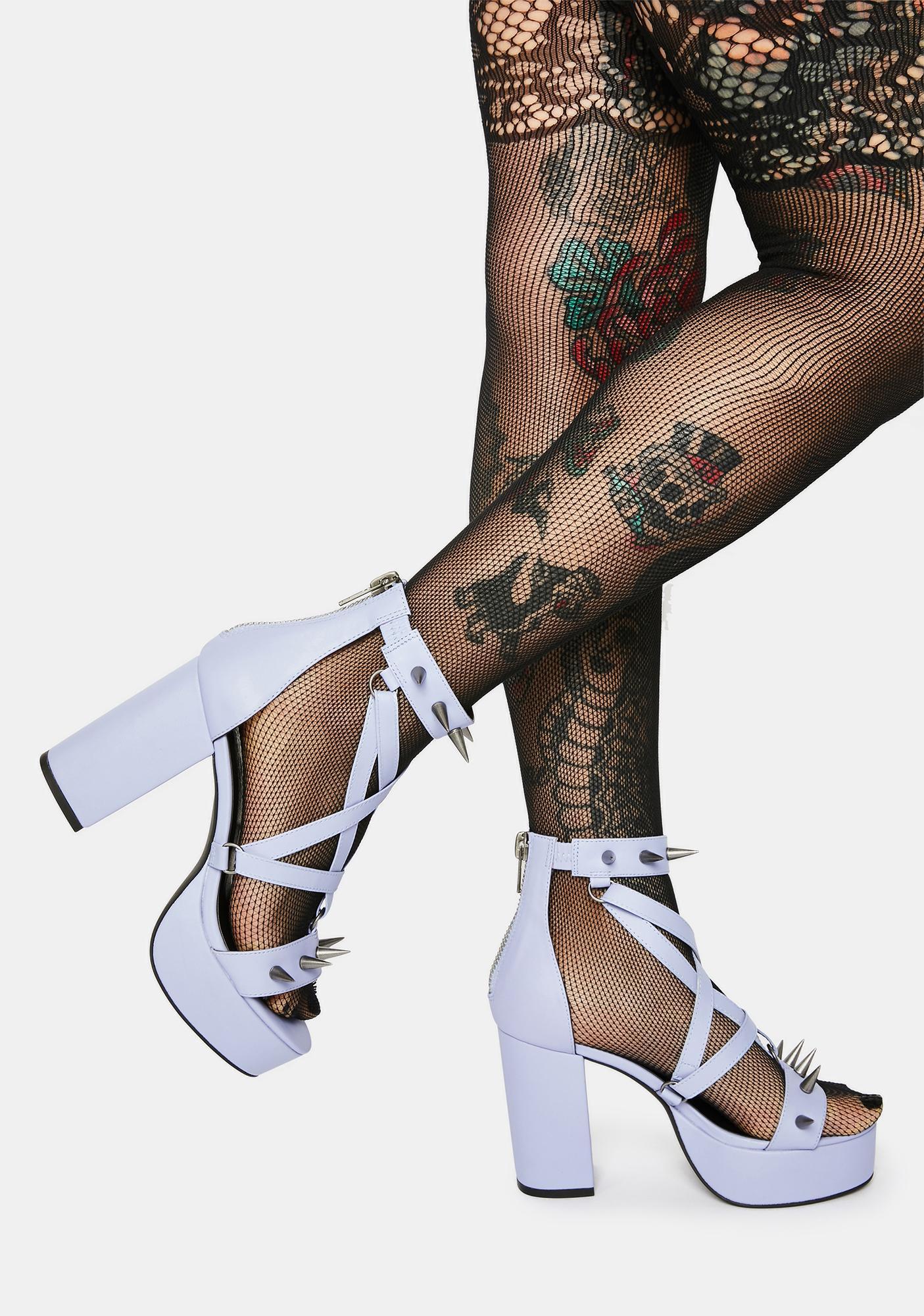 Widow Lilac Killing Me Softly Spiked Heels