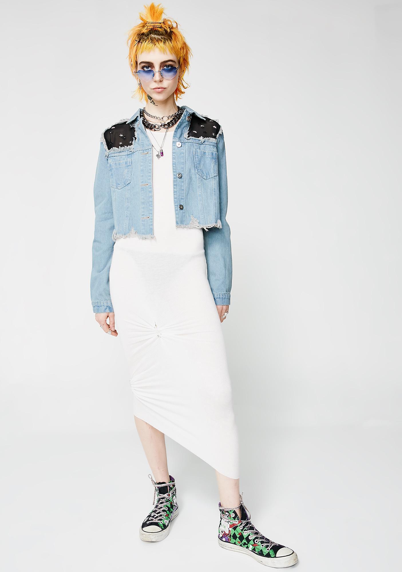 Star Studded Denim Jacket
