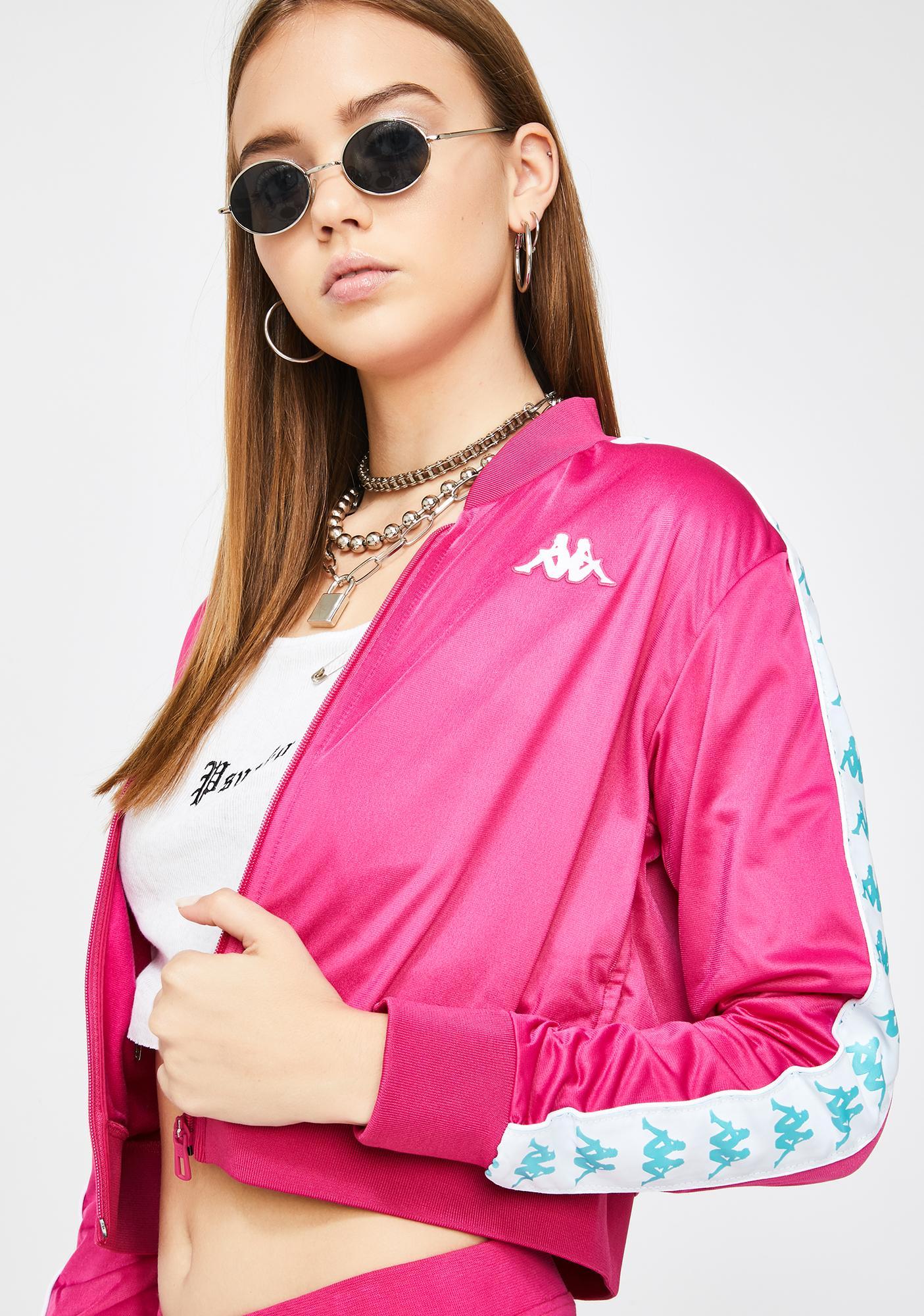 Kappa Fuchsia 222 Banda Asber Crop Jacket