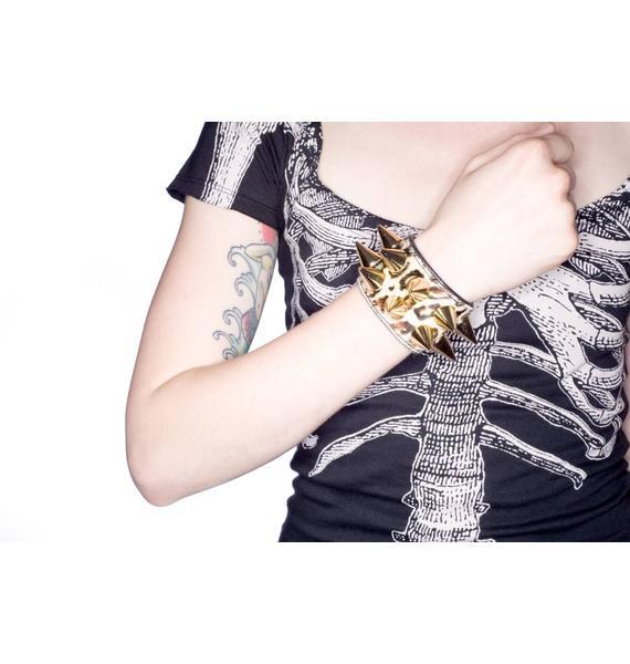 Alessia Double Gold Bracelet