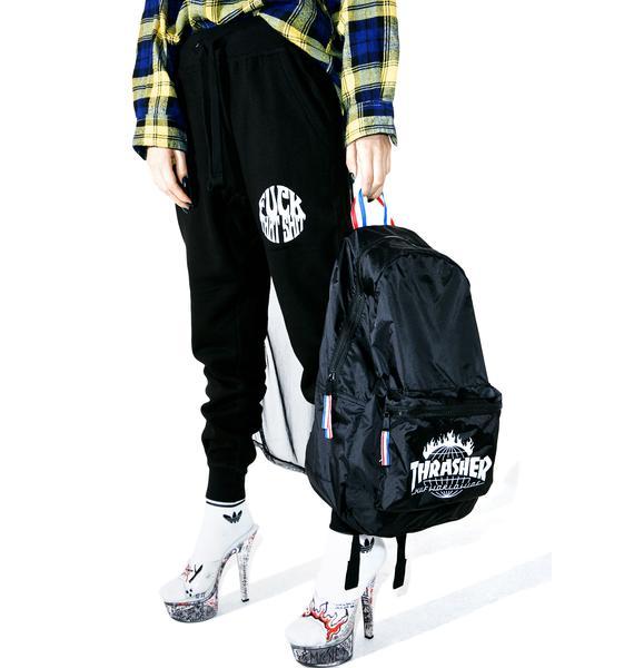 HUF X Thrasher Tour De Stoops Packable Backpack