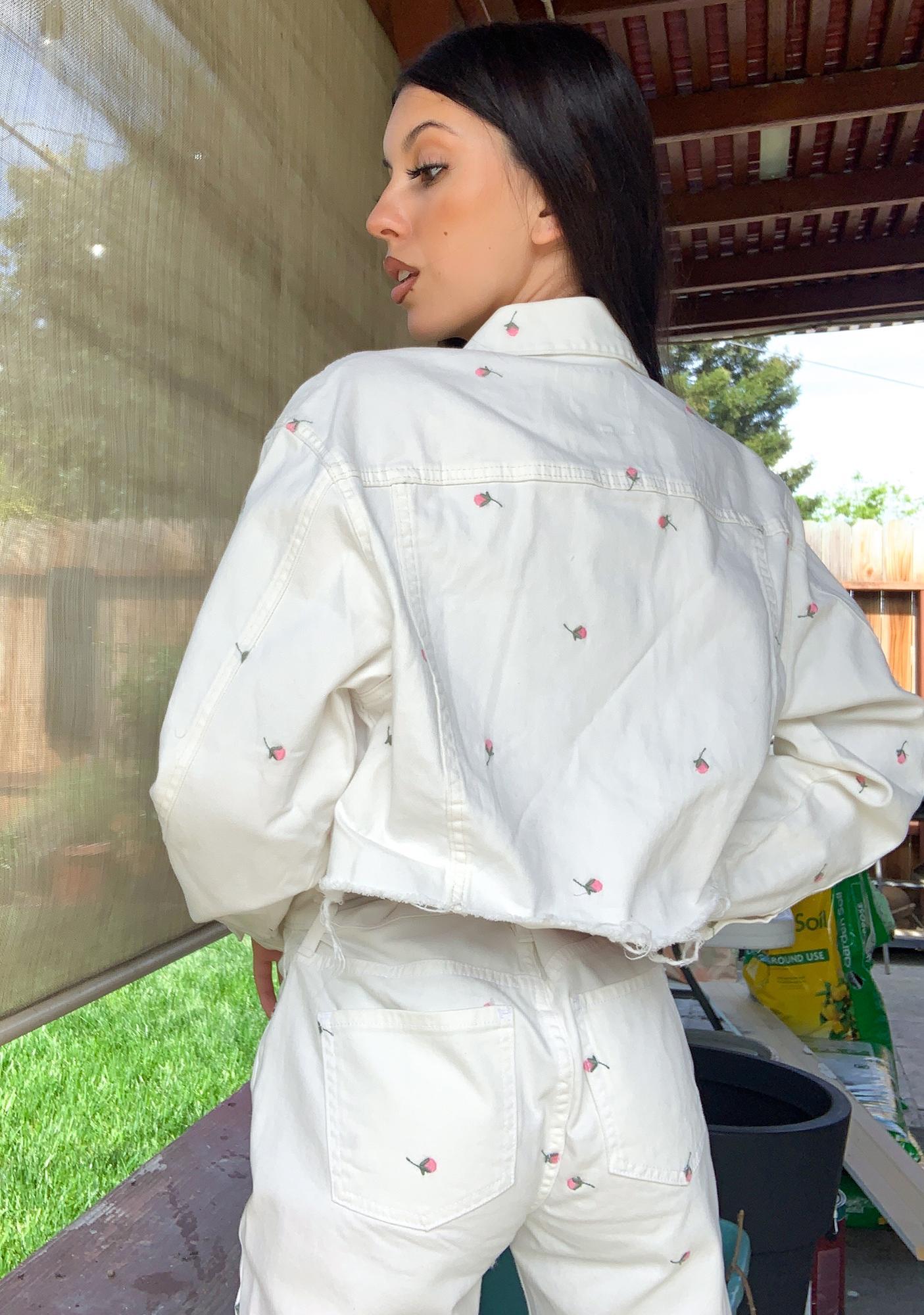 Daze Ex Boyfriend Embroidered Denim Jacket