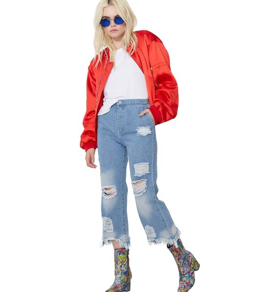 Hitchhiker Blues Ankle Jeans