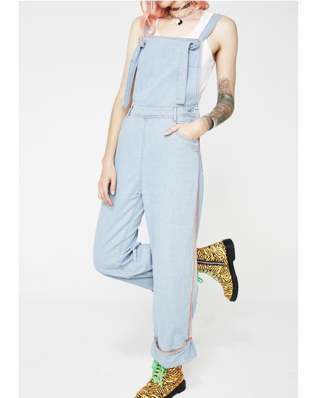 Bish Where Orange Piping Overalls