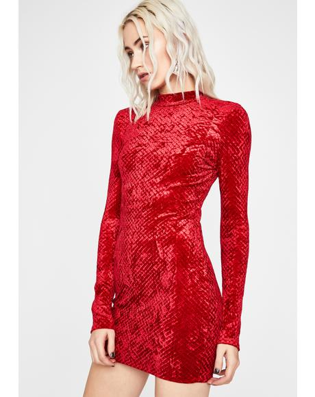 Devil Reign Of Love Velvet Dress