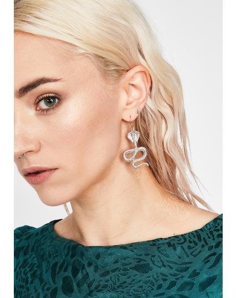 Stony Cold Blooded Killa Snake Earrings