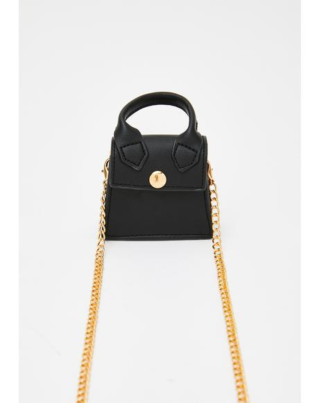 Noir Carelessly Cute Mini Purse