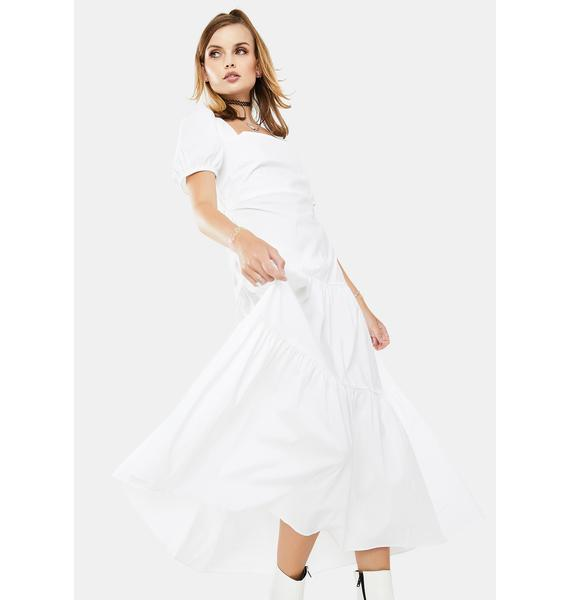 Glamorous White Mid Dress
