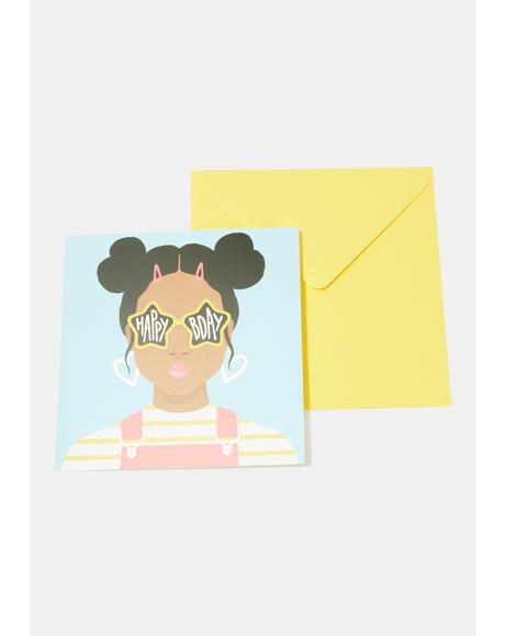 Star Sunglasses Card