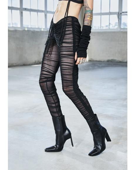 Bassline Sheer Ruched Leggings