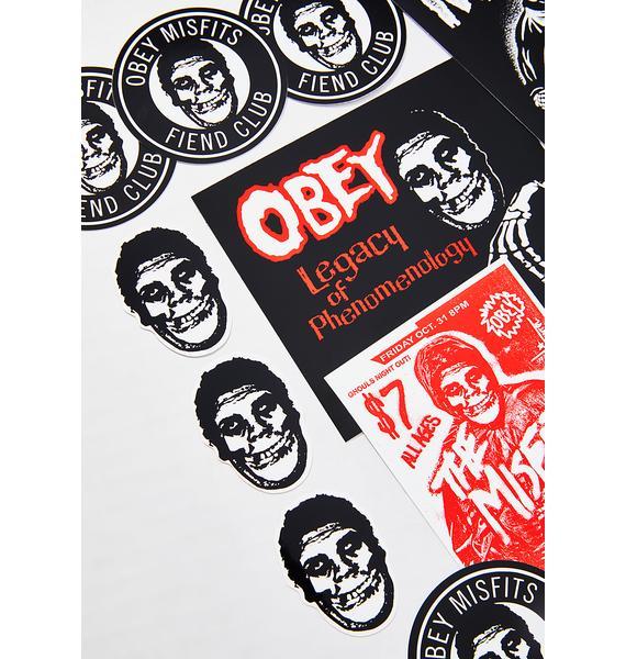 Obey x Misfits Sticker Pack