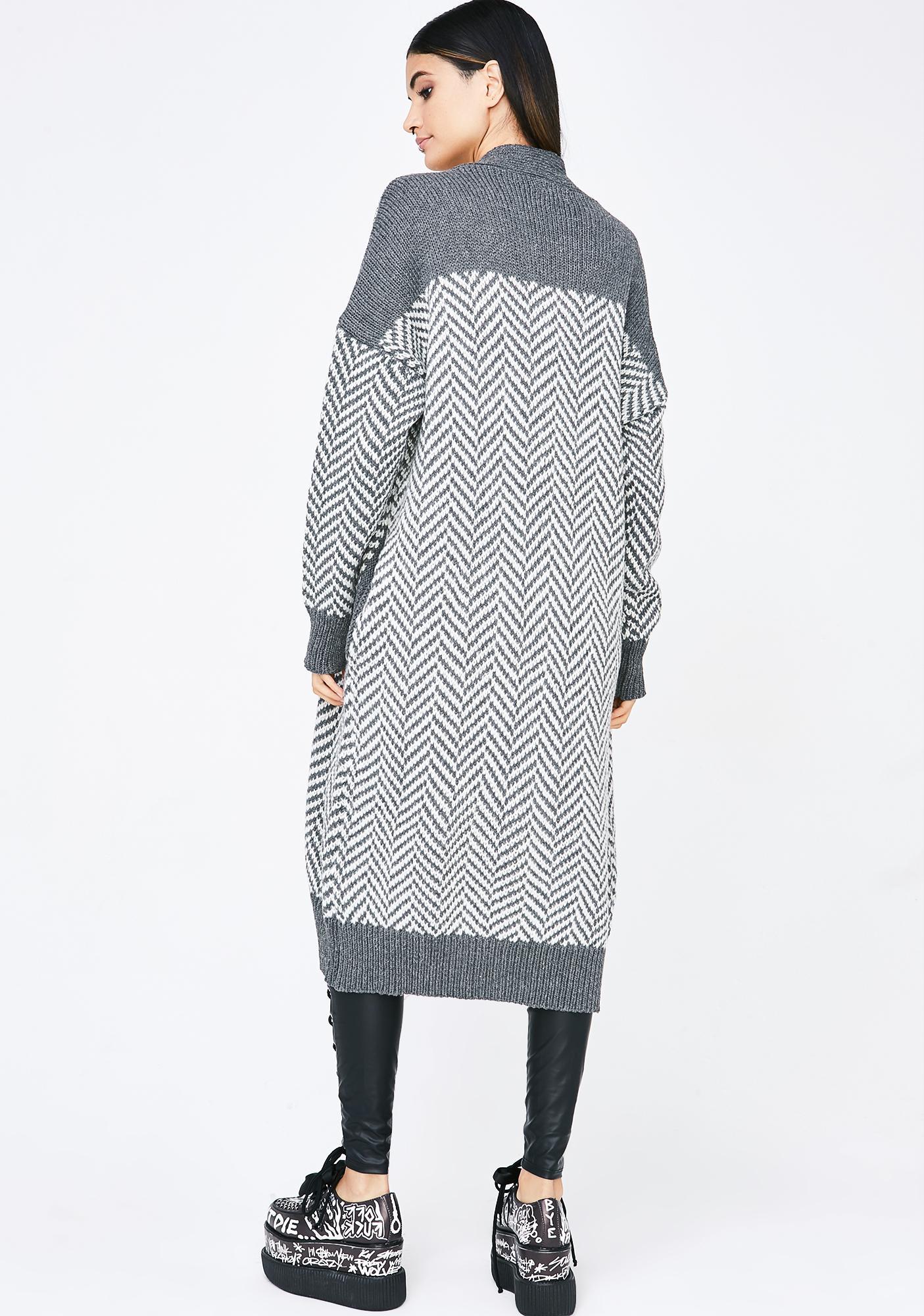 Striped Longline Knit Cardigan | Dolls Kill