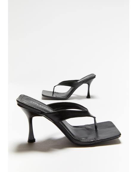 Without Warning Square Toe Heels