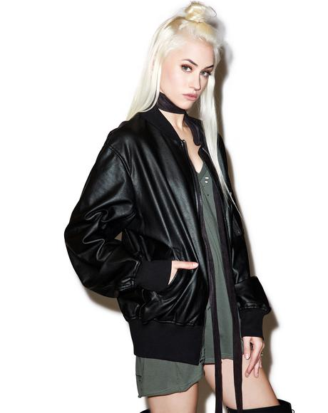 Restless Ruins Coated Bomber Jacket