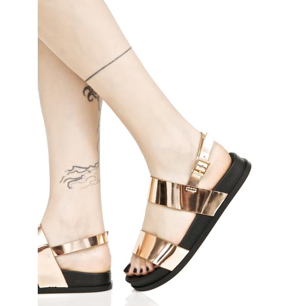Zanadu Metallic Sandals