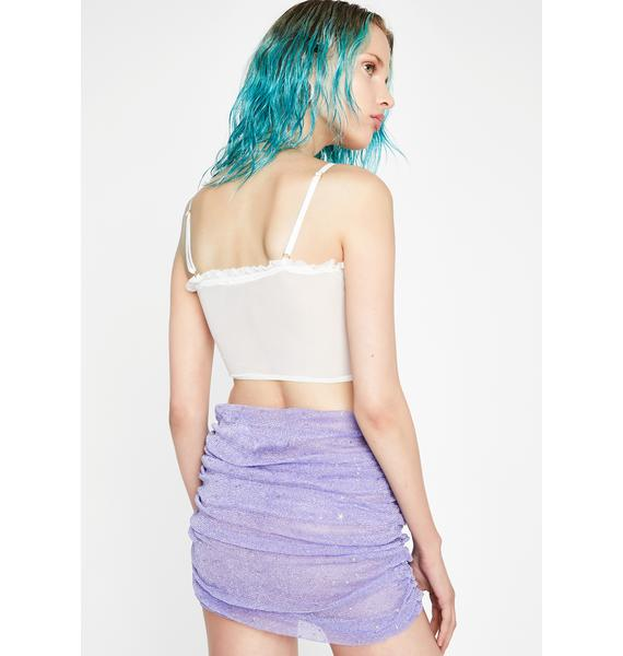 Shining Star Ruched Skirt