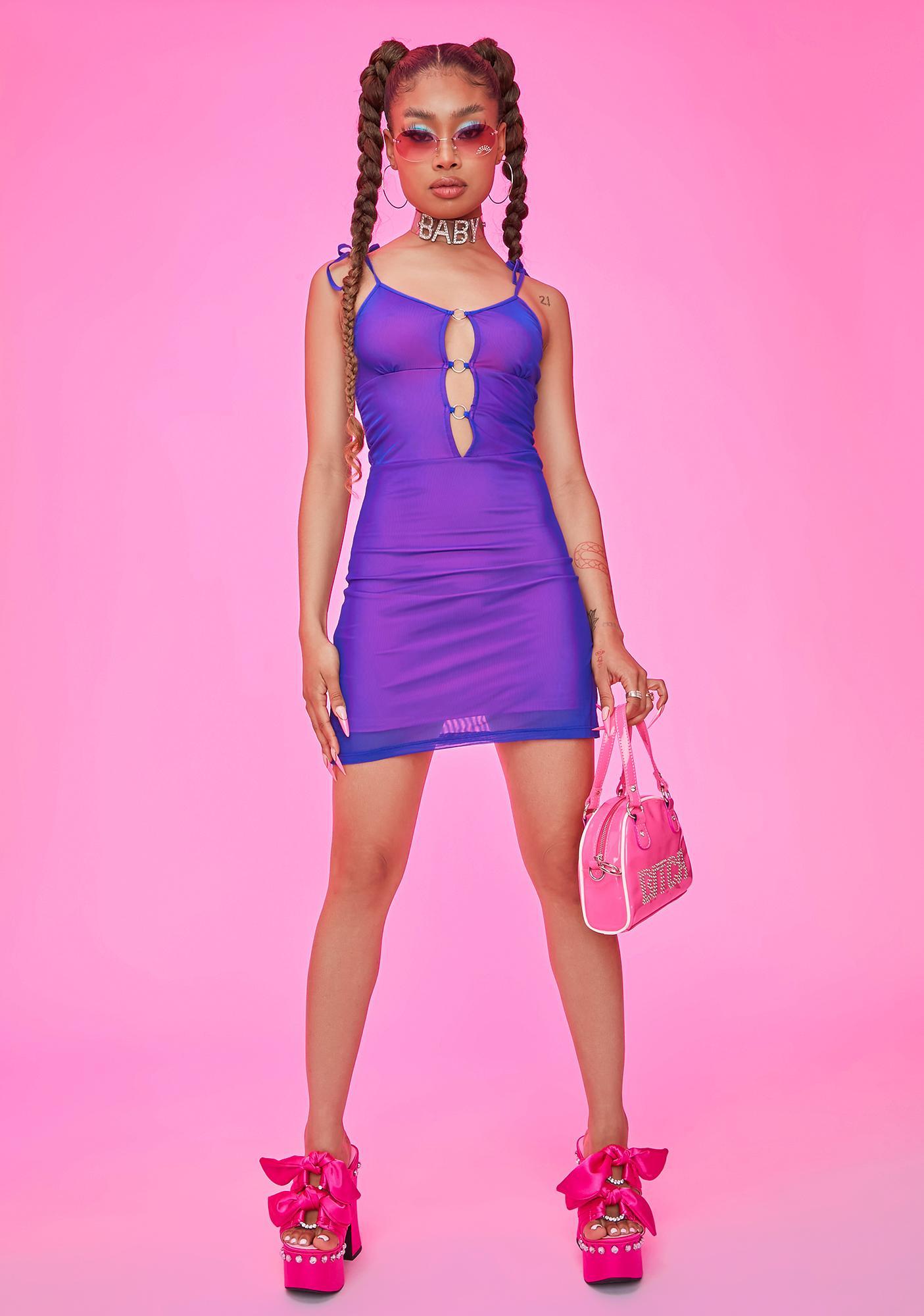 HOROSCOPEZ Ego Trip Cut Out Mesh Dress