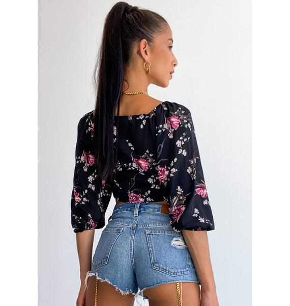 Room For Growth Floral Top