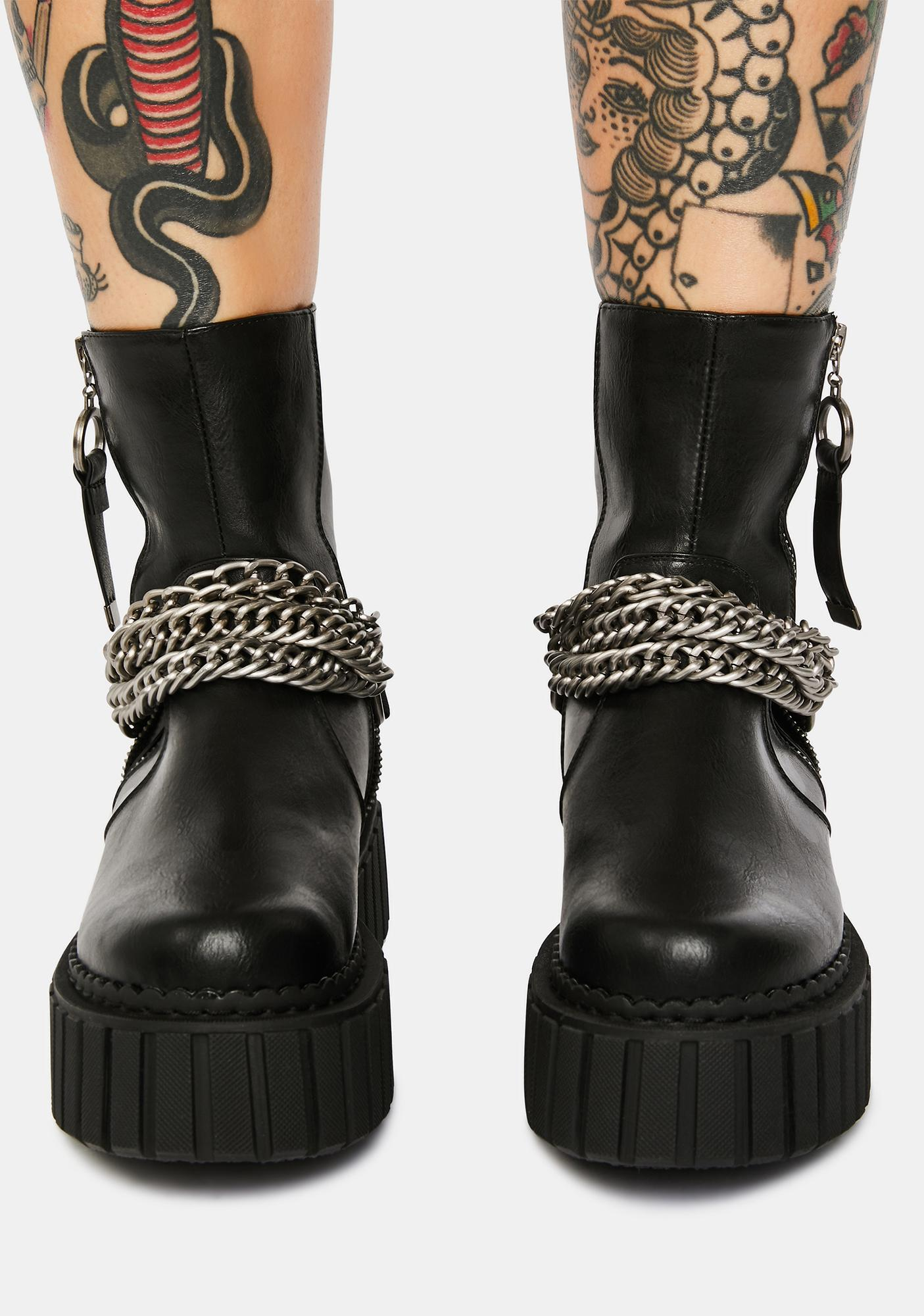 Lamoda Metal Madness Chunky Platform Ankle Boots