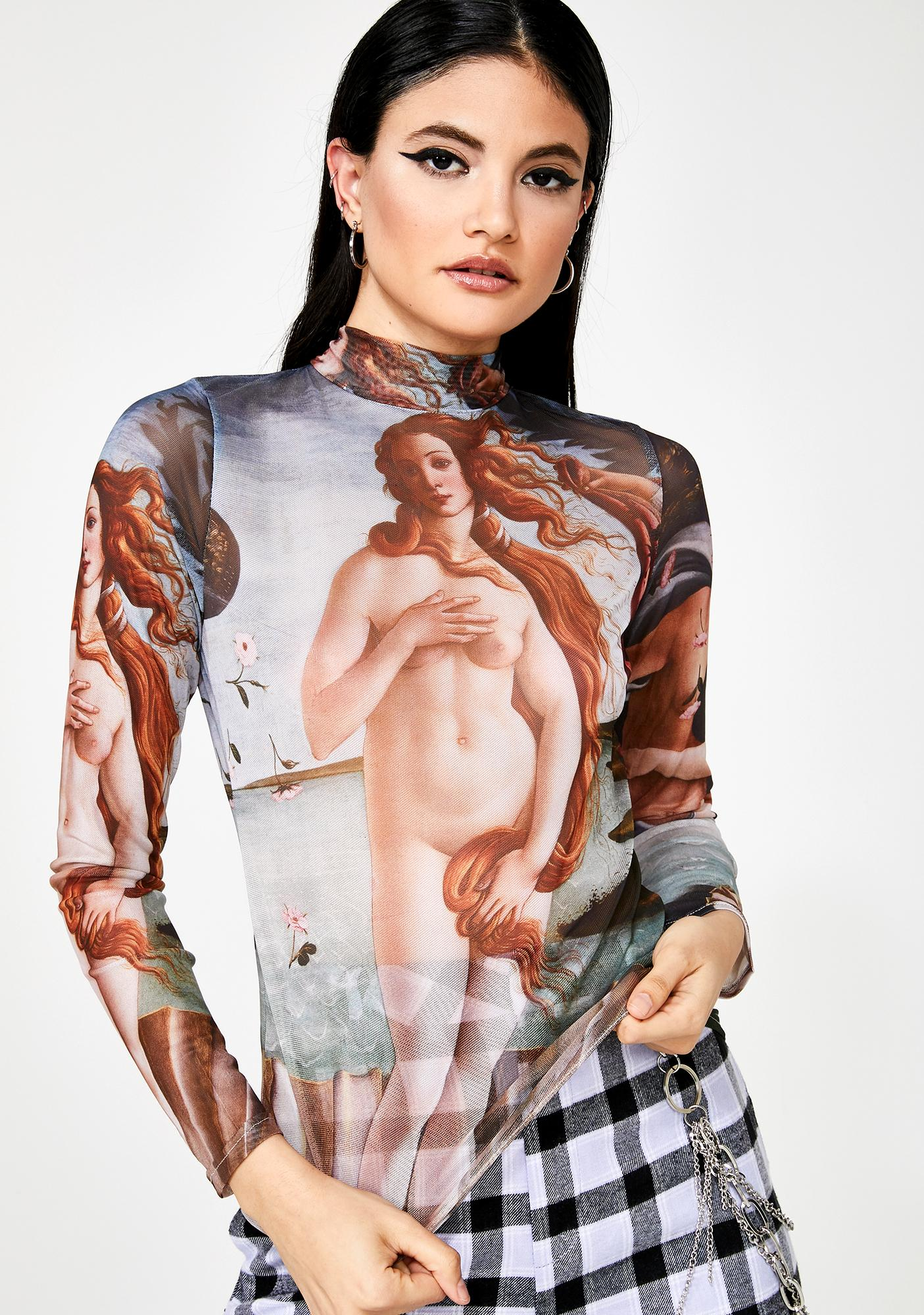 ZEMETA Venus Mesh Long Sleeve Top