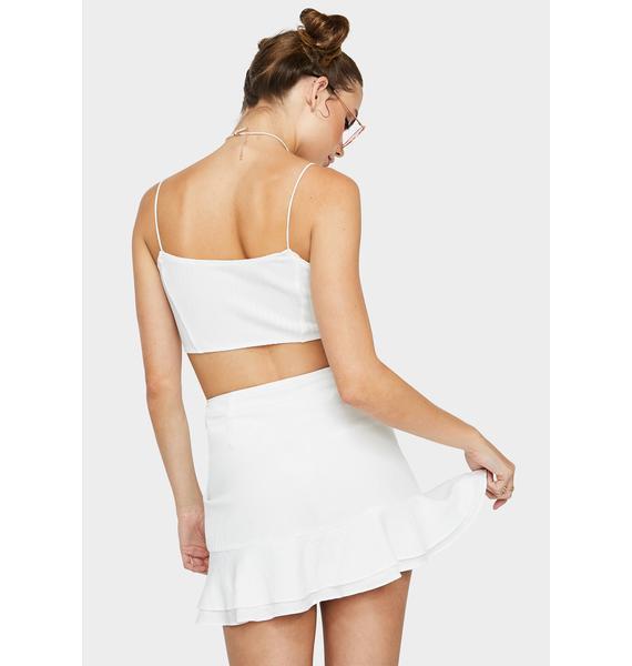 Blanc Ya Found Me Mini Skirt