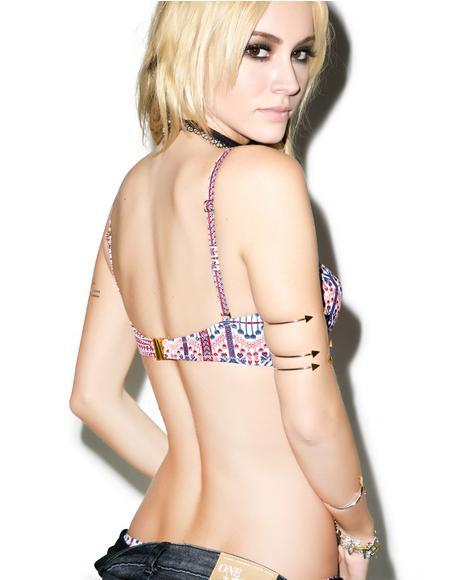 Aztec Carpet Bra Bikini Top