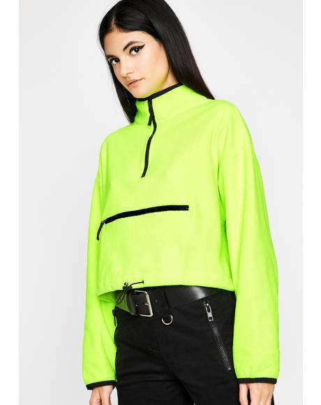 Neon Hardly Stuntin' Fleece Pullover