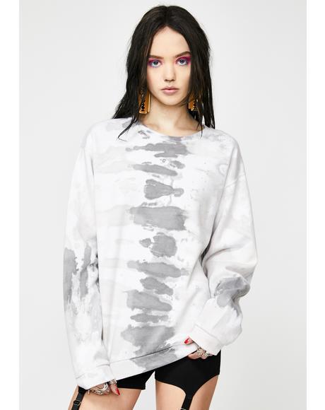 Grey Tie Dye Sweatshirt